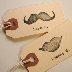 Hipster Wedding Place Cards | AllFreeDIYWeddings.com      So cute!
