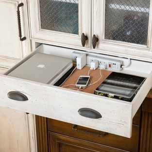 YES!!! Organized: A place for everything (including iDevices.) Kitchen drawer charging station.