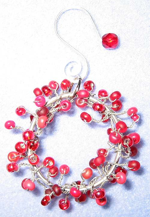135 best Christmas Beaded Ornaments images on Pinterest | Xmas ...