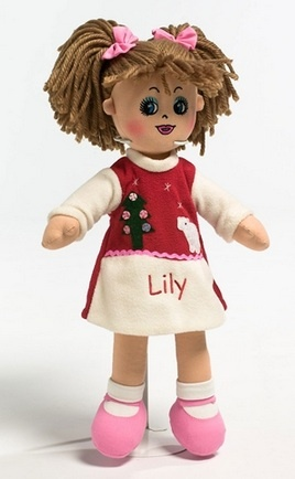 Personalised Christmas Rag Dolls