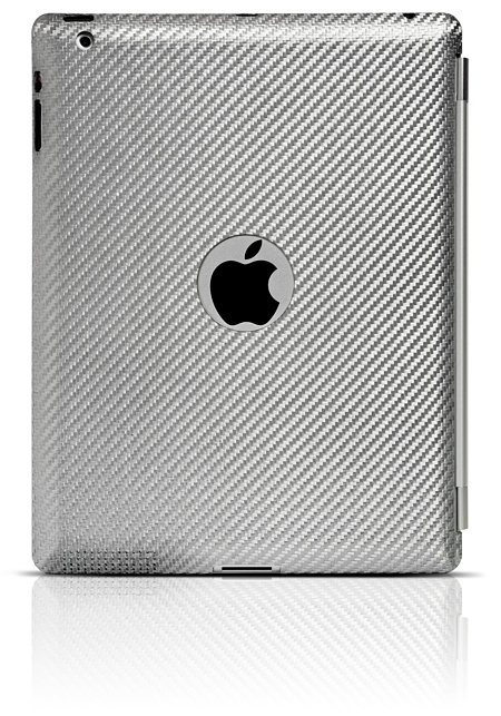 Silver Carbon Cover iPad