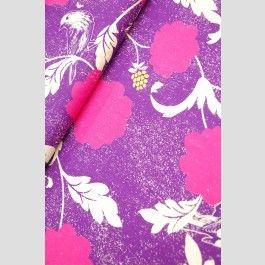 Dahlia - Purple - Echino Decoro 2012 lightweight linen blend fabric by Etsuko Furuya
