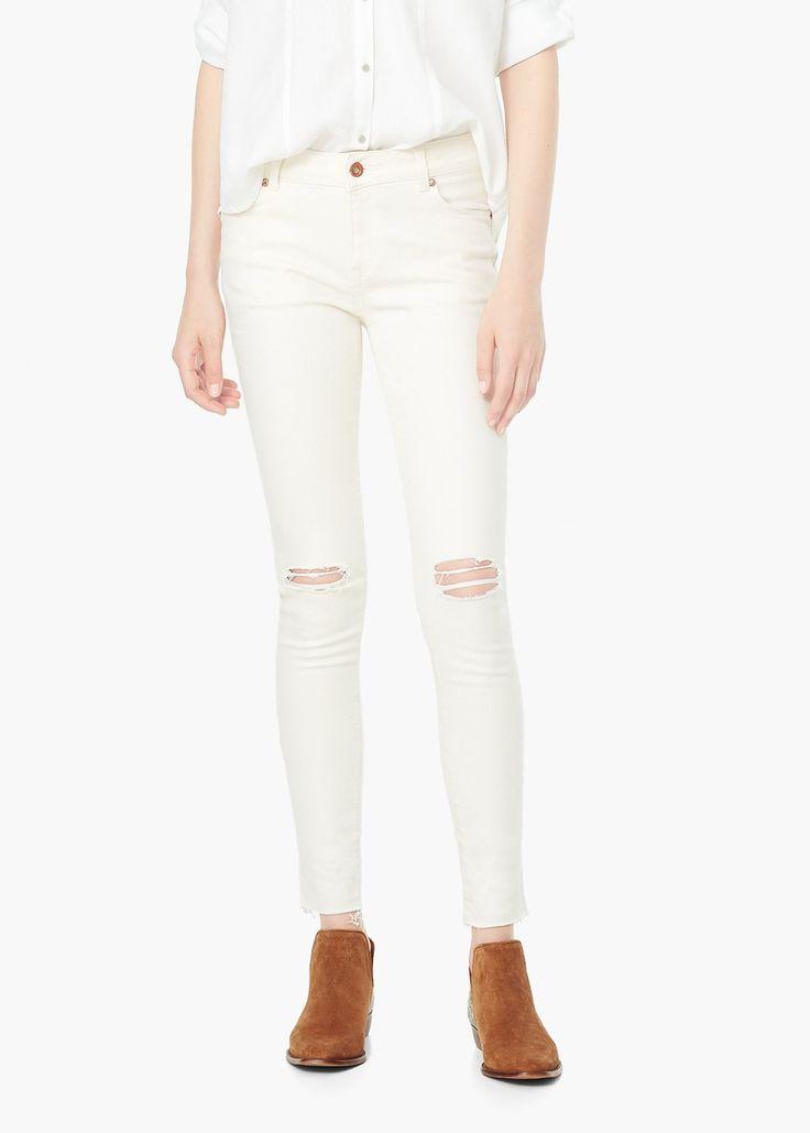 Raw skinny jeans - Jeans for Women | MANGO