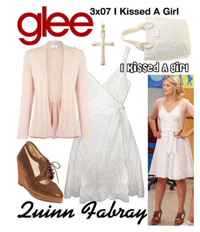"""Quinn Fabray (Glee) : I Kissed A Girl"" by aure26 ❤ liked on Polyvore featuring Kaliko and glee"