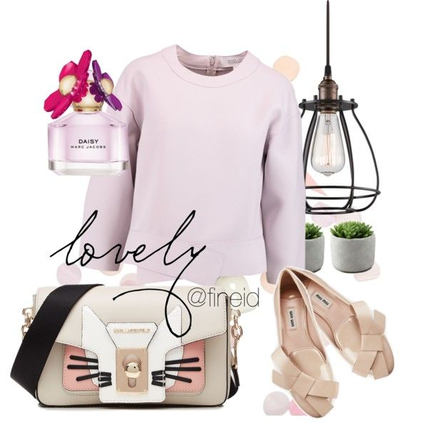 soft violet spring style by fineid on Polyvore featuring moda, 10 Crosby Derek Lam, Miu Miu, Karl Lagerfeld, Marc Jacobs, Dot & Bo and ACME Party Box Company