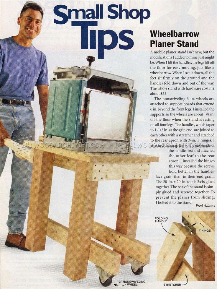 Portable Planer Stand Plans - Planer Tips, Jigs and Fixtures | WoodArchivist.com