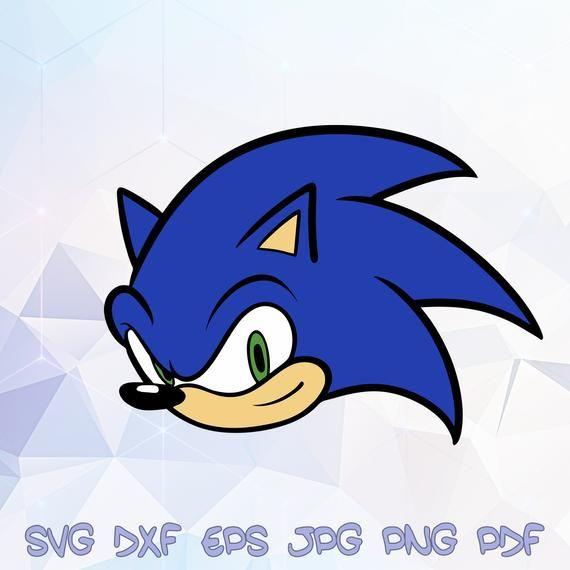 sonic head the hedgehog svg vector silhouette cricut