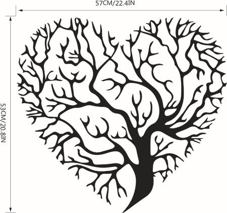 Love Tree Living Room Bedroom Background Decoration Wall Stickers Parlor Vinyl Art Bedroom Home Decor Mural Decal Pictures Wallpaper Popular Wallpapers From Kepi4, $13.07| DHgate.Com