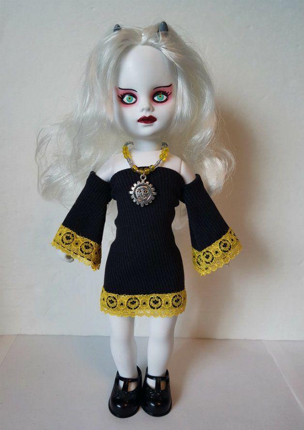 Living Dead Doll Clothes SUN black Dress & Necklace goth hm fashion NO DOLL d4e #DOLLS4EMMAOriginalDesigns #ClothingAccessories