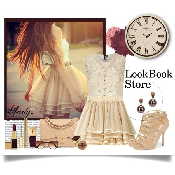 """""""Lookbook store :Tiered Mini Skirt Apricot"""" by andyts on Polyvore"""