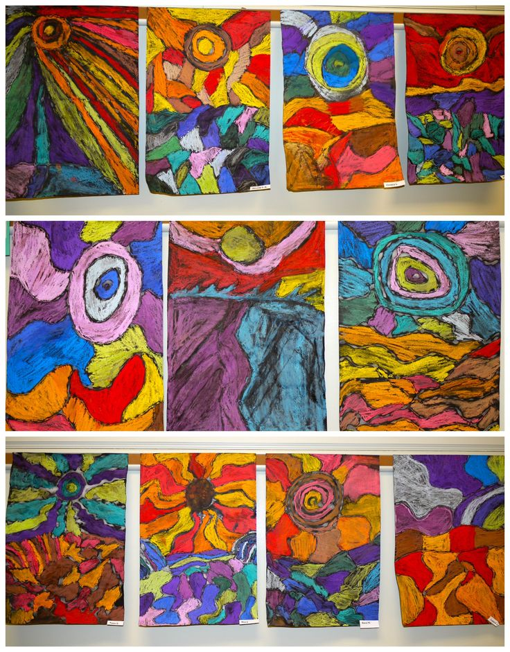 Ted Harrison inspired pastel landscapes. From the colors of my day blog.