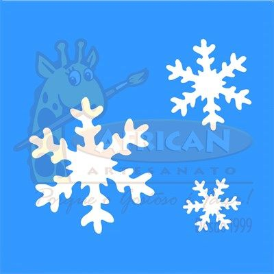 Stencil Floco de Neve 10x10 - OPA