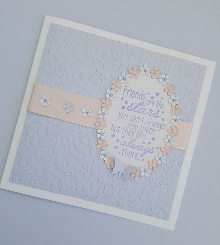 Friends are like stars floral lavender card