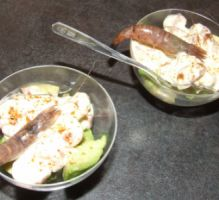Recette - Verrine aux crevettes grises - Proposée par 750 grammes