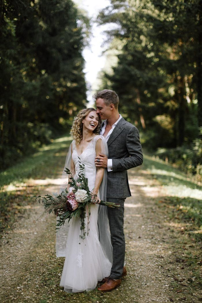 This couple's dreamy Chateau de La Noue Le Coq wedding was the perfect all-inclusive place for an intimate celebration in the French countryside