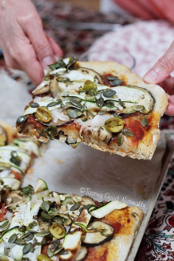 Tasting Good Naturally : Pizza aux légumes d'été #vegan