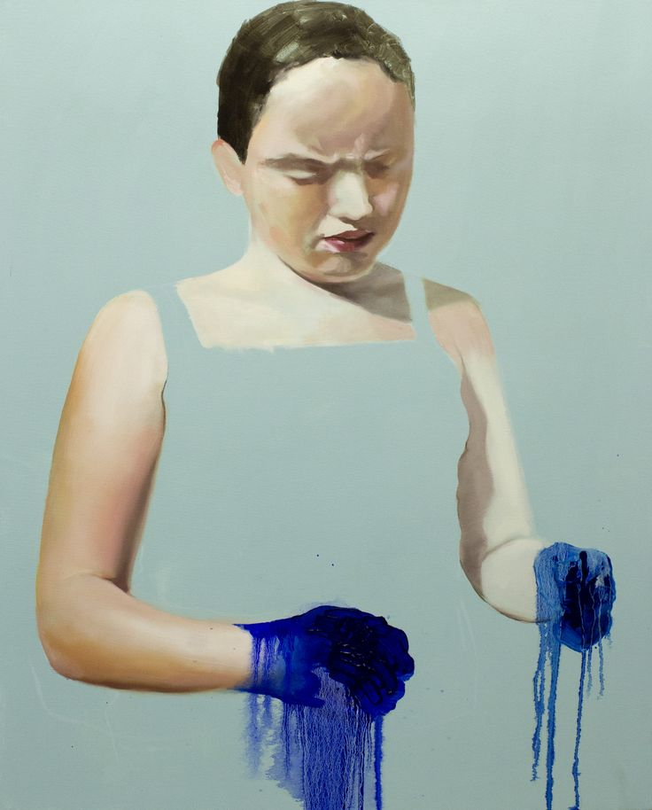 "Tanya Poole ""Girl with Blue Hands"" 2012"