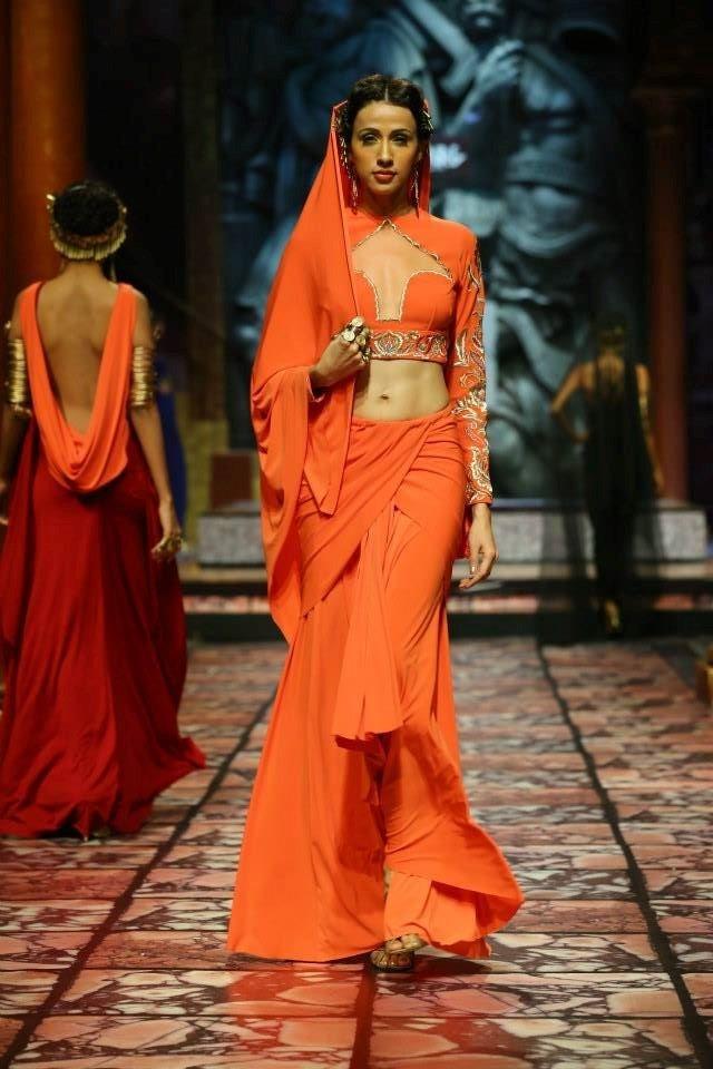 orange bridal lengha suneet varma