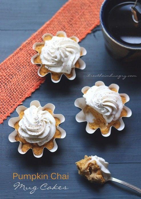 Low Carb Pumpkin Chai Mug Cake – Gluten Free