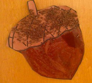 acorn craft from preschool wonders november fall pinterest