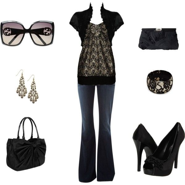 :D: Date Night Outfit, Black Outfits, Dreams Closet, Style, Clothing, Cute Outfits, Black Laces, Date Nights, Girls Night Out