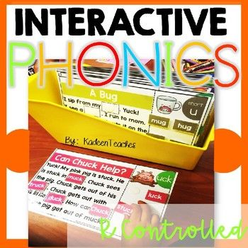 Interactive Phonics Mats with R Controlled Vowels are an awesome addition to your centers and classroom rotation. Can be used as adapted phonics reading for ELL students. Having students read in context is so important. See if they are really learning their