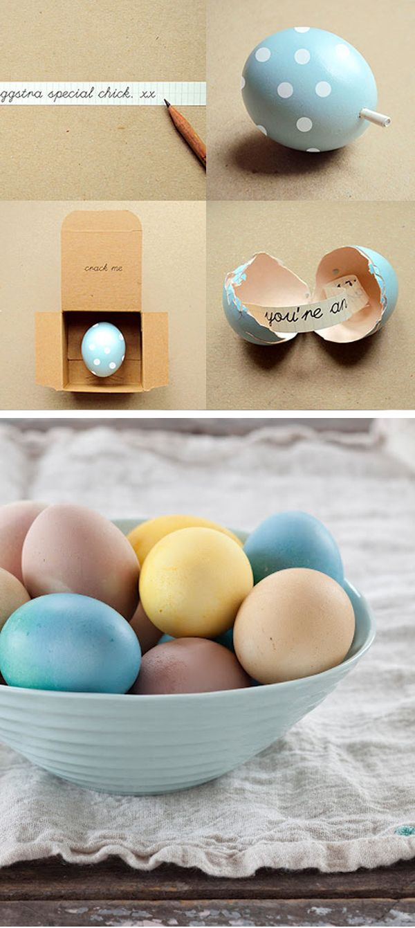 DIY Wordy Egg from Poppy Talk (by Present) // DIY Naturally Dyed Easter Eggs from Christine Chitnis