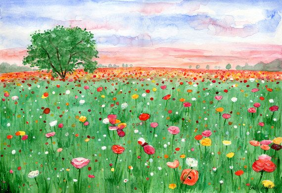 Check out this item in my Etsy shop https://www.etsy.com/uk/listing/294948727/watercolour-meadow-original-painting