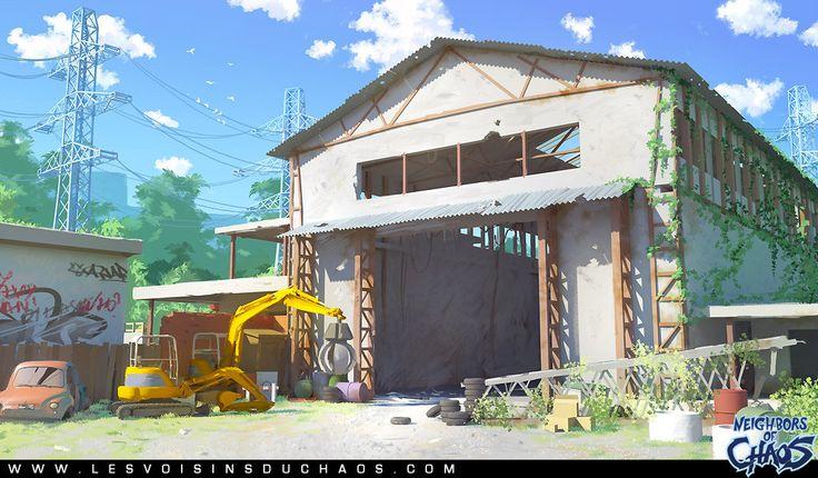 Rust and concrete, Sylvain Sarrailh on ArtStation at http://www.artstation.com/artwork/rust-and-concrete