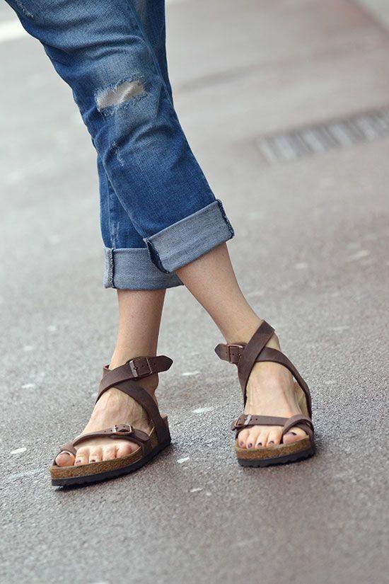 Marie de @blogmodenmarie (look Une Souris dans mon Dressing) | Je veux la même : http://www.birkenstock-france.com/sandales-birkenstock/modeles-yara.html | #Birkenstock #Yara