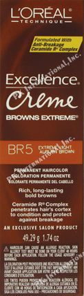 Loreal Excellence Extreme Br5 Light Auburn Brown 1.74oz  PK-LR500291