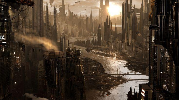 Sci-Fi City the Future   wallpapers sun city, skyscrapers, Future, Sci-Fi, photo on the desktop ...