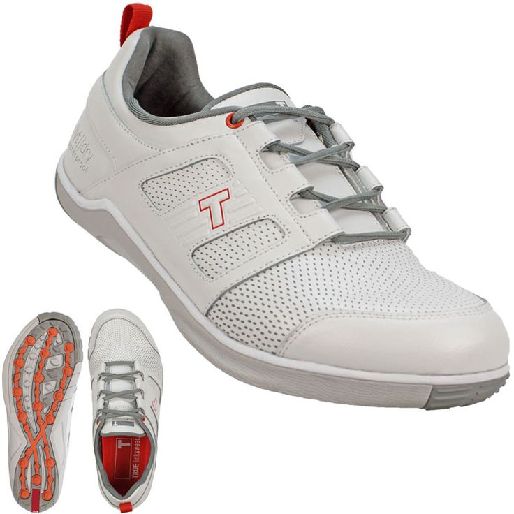 TRUE linkswear TRUE lyt dry Golf Shoes White/Salmon - linkswear deal with a  narcissist