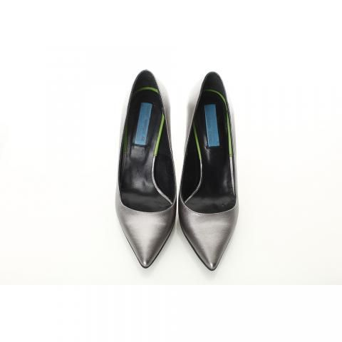 Pantofi argintii toc stiletto | The Boutique