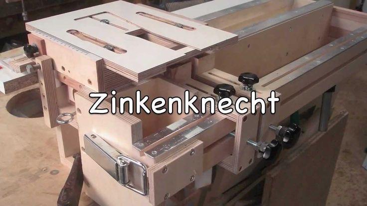 Der Zinkenknecht, selbst gebautes Zinkenfräsgerät, a home made dovetail jig