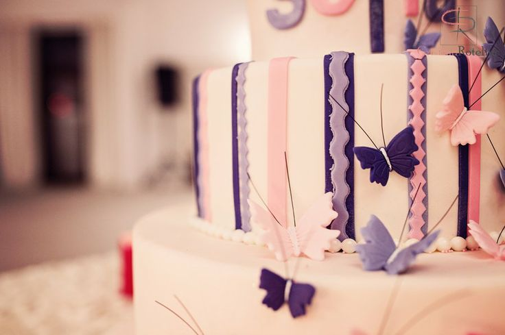 Butterflies - details from a baptize cake - Corina Toma and Boheme delices francaises