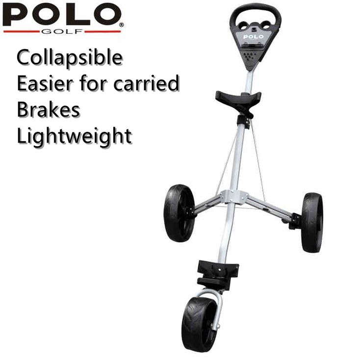 brand POLO. Quick Easily Fold Wheel Golf Push Pull Cart Trolley, GOLF Trolley Easy Folding and Portable.