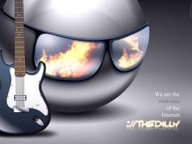 Guitar 3D animation