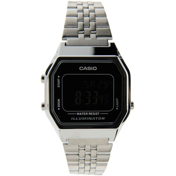 Casio Wrist Watch ($44) ❤ liked on Polyvore featuring jewelry, watches, black, casio watches, black jewelry, stainless steel jewellery, stainless steel watches and stainless steel jewelry