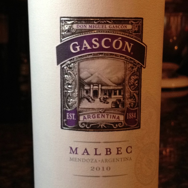 Gascon Malbec Argentina 2010 one of the best malbecs and its only like $15!!!! I love it!