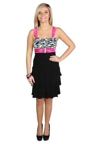 zebra print triple tiered dress, I WOULD SO WEAR THIS!!!