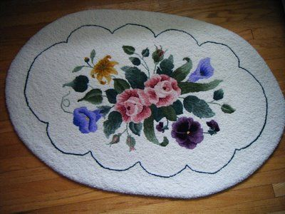 Rug Hooking Supplies | Rug Hooking Goes Way Back I Made My Floral Rug In  1994