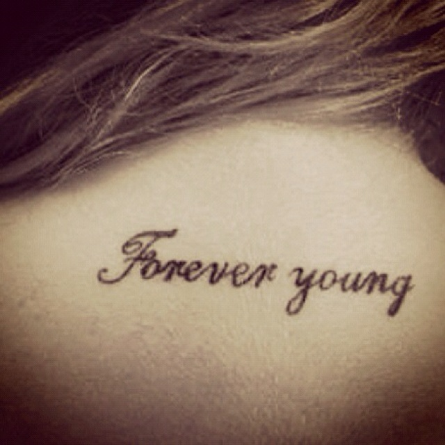for Forever young in japanese tattoo