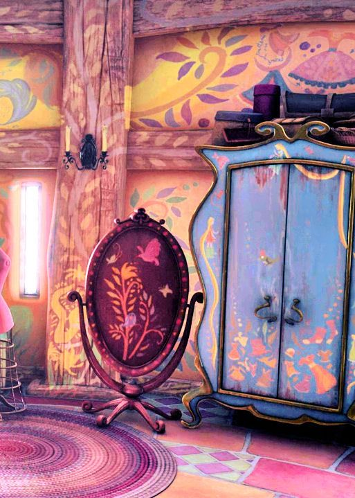Rapunzel's really painted every inch of her tower.