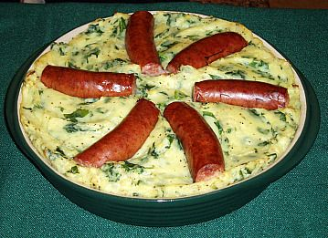 Delicious Colcannon is a traditional Irish dish.