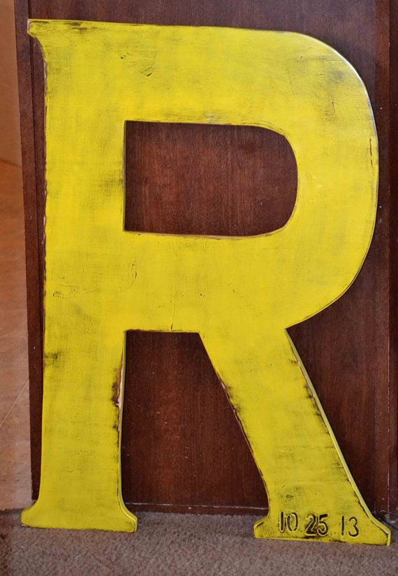 Large wood letter 36 inch photo prop wooden by for Large wooden letter p