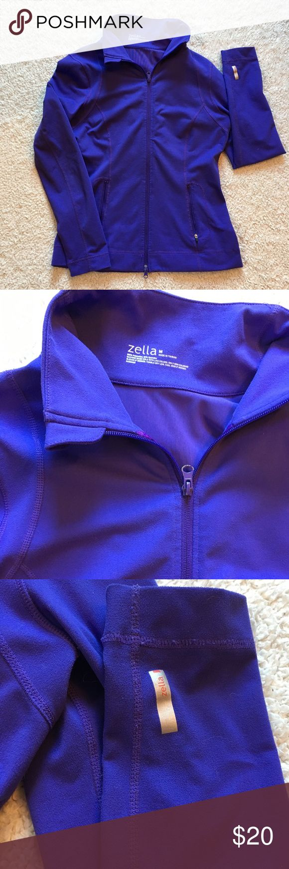 Zella Purple Zip-Up Jacket Size Medium Lightly worn, Zella purple zip up jacket. It looks kind of blue in the photos but it is purple.  Worn only a few times. Zella Jackets & Coats