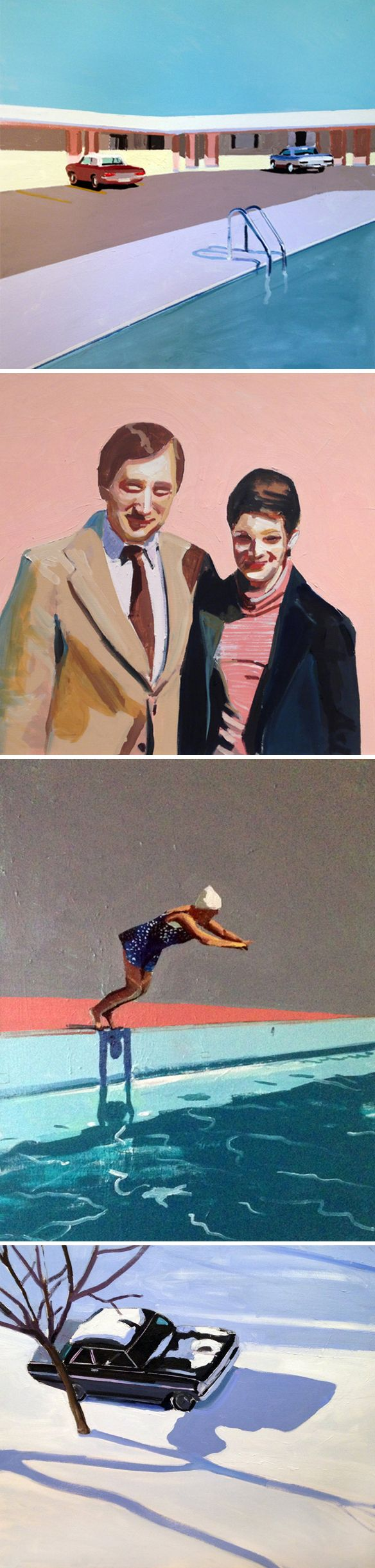 Ah! So cool… see, it pays to stalk, I mean follow, artists that you love on social media! These paintings are from the latest, vintage inspired, series by Massachusetts based painter Jessica Brilli -