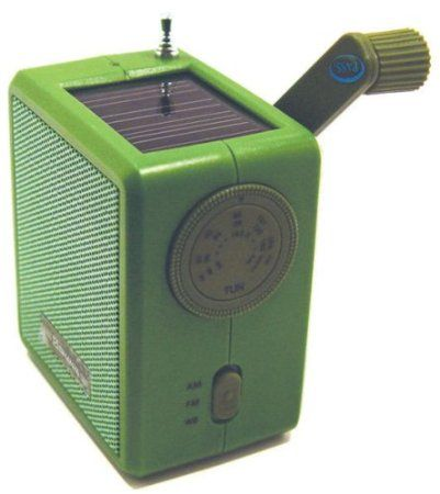 Amazon.com: Kikkerland Dynamo Solar and Crank Emergency Radio, Green: Home & Kitchen