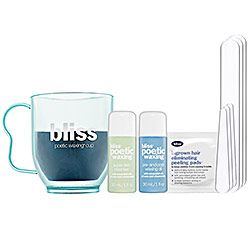 Bliss - Poetic Waxing At-Home Hair Removal Kit: 1st tried on a cruise at the spa.  Great results.